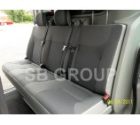 Nissan Primastar crew cab (old shape up to 2014) seat covers made to measure in black leatherette